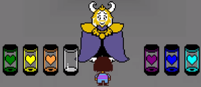 Undertale Asgore and the Six Human Souls
